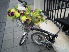 Flower delivery bike Flower Delivery, Eco Friendly, Bike, Events, Green, Flowers, Bicycle Kick, Trial Bike, Bicycle