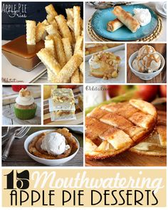 15 Mouthwatering Apple Pie Desserts!!  They all look absolutely delicious!
