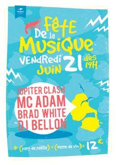 """Poster """" Fête de la musique """" ...."""