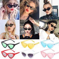 Para Mujeres Moda Vintage Retro Ojo De Gato Gafas Gafas Lentes de sol  Triángulo UV400 - mostrar título original b2616a42fbd5