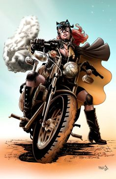 Steampunk Batgirl pencil & ink by : James O'Riley Color by sambis
