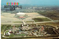 the old astroworld with the Astrodome in the background! So many great memories