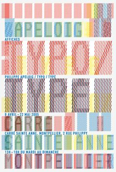 Philippe Apeloig | 2005 | Typo / Type, Carre Sainte-Anne, Montpellier
