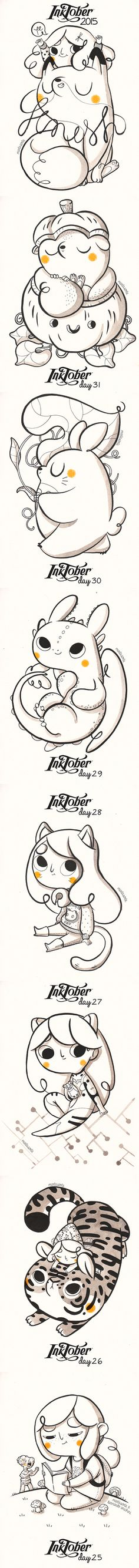 This is my collection of INKtober 2015  #MartaSorte #LinduraTotal