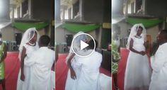 Noiva Visivelmente Zangada Recusa-se a Beijar o Noivo No Seu Próprio Casamento