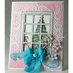 Elegant Pinks project w/ Winters Eve collection from #HeartfeltCreations