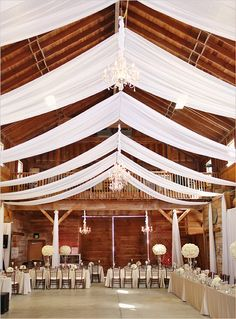 Amazing what draping can do to a barn setting!