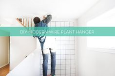 Make a statement and display your plants in style with this beautifully simple Modern Wire Plant Hanger!
