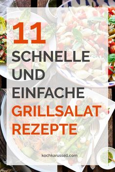quick and easy barbecue salad recipes - 11 schnelle und einfache Grillsalat-Rezepte 11 quick and easy barbecue salad recipes. Vegetarian, vegan, with meat – here you are guaranteed to find something. Perfect for the BBQ. Barbecue Salad Recipes, Vegetarian Salad Recipes, Pork Recipes, Snack Recipes, Cooking Recipes, Snacks, Grilling Recipes, Vegan Vegetarian, Greek Recipes