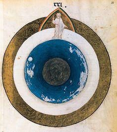 Les six jours de la Création, Missel-livre d'heures franciscain. Pavie ou Milan, vers 1385-1390.