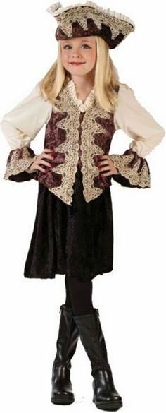 Royal Lady Pirate Kids Halloween Costume - Pirate Costumes