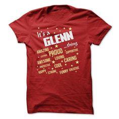 GLENN THING T SHIRT - #gift for her #housewarming gift. CHECK PRICE => https://www.sunfrog.com/Names/GLENN-THING-T-SHIRT.html?68278
