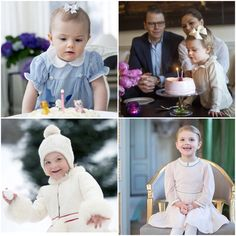 Princess Estelle 1st to 4th Birthdays => a Princess is a Princess since the blessing of conception. MUA! <3