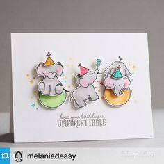 """""""In case you haven't seen it, check out this show stopper #Repost from @melaniadeasy --- Having fun with this cute elephants #wplus9 #thedailymarker30day"""""""