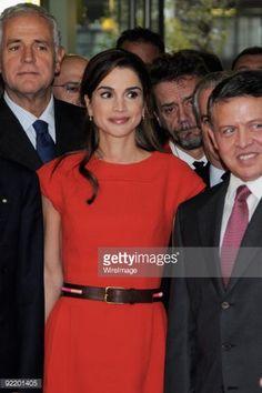 Fotografia de notícias : Queen Rania and King Abdullah II of Jordan arrive...
