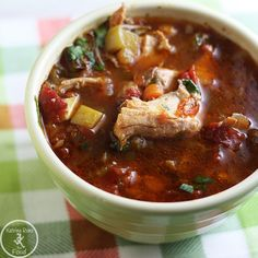 30 Whole 30 Recipes: Chipotle Chicken Soup--scroll down little bit to get to recipe
