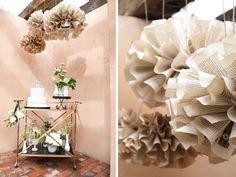 Decoração de casamento com Pompom - Foto do Site Thelittlecanopy