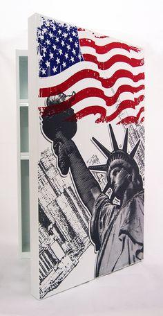 #ตู้เหล็ก #กราฟฟิค #NewYork #Liberty #USA
