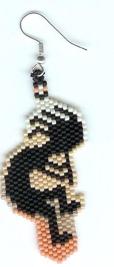 A mano di perline orecchini di Kokopelli di beadfairy1 su Etsy