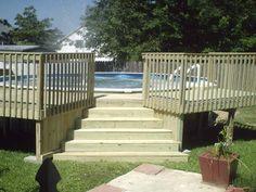 Above Ground Pool Deck Plans | Pool Decks