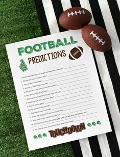 If you need some Super Bowl party games that are easy and fun for the whole family, this Football Predictions game is a great one to try. Similar to the online Prop Bets game, but made for both kids and adults, football fans and those who are just there for the food. Everyone will love it!