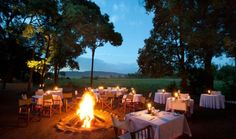 Dinner around the campfire Little Governors Camp, Masai Mara, Kenya, safari  www.governorscamp.com