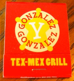 Gonzales y Gonzales - #matchbook - To order your business' own branded #matchboxes and #matchbooks, go to www.GetMatches.com or call 800.605.7331 today!