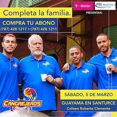 Consigue tus boletos para la temporada de baloncesto de Los Cangrejeros en Ticket Center www.tcpr.com