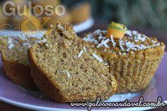 Este Muffin de Abóbora e Coco Sem Lactose e sem glúten é do jeitinho que gostamos: simples, rápido e delicioso! Obaa! Bora para a cozinha, então?  #Receita aqui: http://www.gulosoesaudavel.com.br/2015/10/30/muffin-abobora-coco-sem-lactosegluten/
