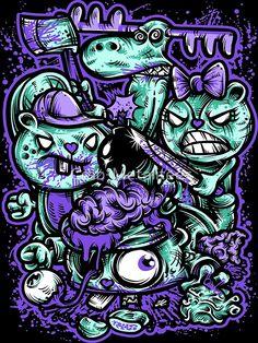 'Happy Tree Families by Crab-Metalitees Happy Tree Families 02 von Crab-Metalitees Graffiti Art, Wie Zeichnet Man Graffiti, Graffiti Doodles, Graffiti Wallpaper, Trippy Wallpaper, Graffiti Drawing, Art Drawings, Happy Tree Friends, Cartoon Kunst