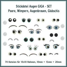 Augen und Wimpern Giga Set Stickdatei http://www.rock-queen.de/epages/78332820.sf/de_DE/?ObjectPath=/Shops/78332820/Products/2034