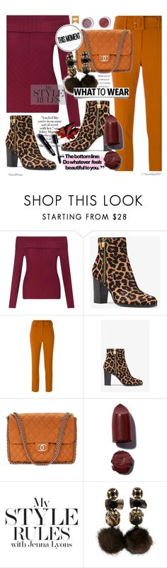 """""""Leopard Booties My Style Rules"""" by octobermaze ❤ liked on Polyvore featuring Miss Selfridge, MICHAEL Michael Kors, Theory, Blend Minerals, Chanel, Bobbi Brown Cosmetics, Ranjana Khan, leopard and booties"""