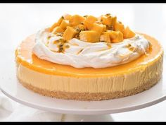 No Bake Mango Cheesecake | RecipeTin Eats