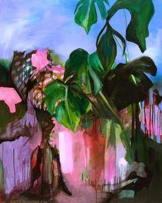 Julia Benz, 100x80cm, Tusche&Acryl auf Holz, 2015