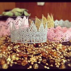 DIY Lace Princess and Queen Crowns
