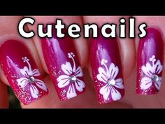 How to make an easy hibiscus flowers !    ♥ Comment, like and share if you liked this tutorial !  ♥ If you like my videos, feel free to suscribe to my chanel !  http://www.youtube.com/subscription_center?add_user=cutenails  ♥ Click here to see more nail art tutorial  http://www.youtube.com/watch?v=5WZ7YiONVuQ=PLCE2C578ED34DD9D6  ♥ APP for ip...