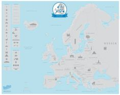 106 Best Europe Images In 2019 Maps Blue Prints Cards