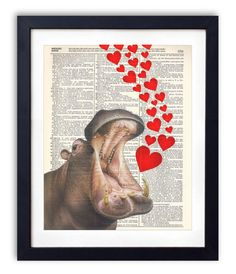 {HEART} Hippos by Nicole Fischer on Etsy