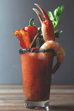My dream bloody mary. Now to serve them to the masses!
