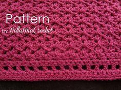 Crochet Baby Blanket Pattern // Marietta by bellamiacrochet, $5.50