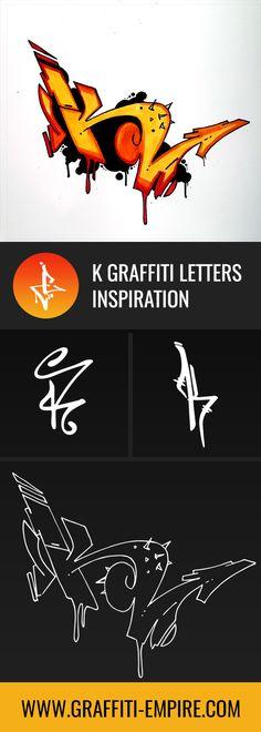 676b1c99ffbc K Graffiti Letters by Graffiti Empire Grafitti Letters