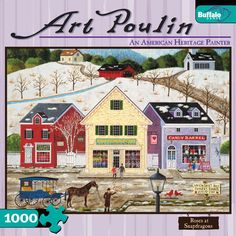 Art Poulin Painting 1000 Piece Jigsaw Puzzle Roses At Snapdragons