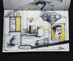 #yellow #sketch #sketching #sketchbook #art #artist #artwork #ink #drawing #shayal #illustrator #paint #painting #draw #gallery #galleria #architecture #now #daily #my #design #newconcept #architecturestudent #arquitetapage #artegypt #archilover
