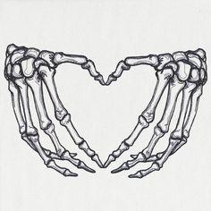 Hand Tattoos, Skeleton Hand Tattoo, Dope Tattoos, Small Tattoos, Skeleton Hands Drawing, Heart Hands Drawing, Tatoos, Skeleton Love, Skull Hand