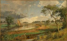 Walton-on-Thames de Jasper Francis Cropsey (1823-1900, United States)