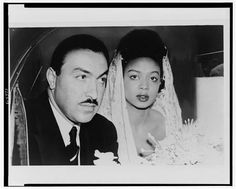 [Adam Clayton Powell, Jr. and wife Hazel Dorothy Scott, head-and-shoulders portrait, on their wedding day] 1945.  New York World-Telegram and the Sun Newspaper Photograph Collection, Library of Congress Prints and Photographs Division.