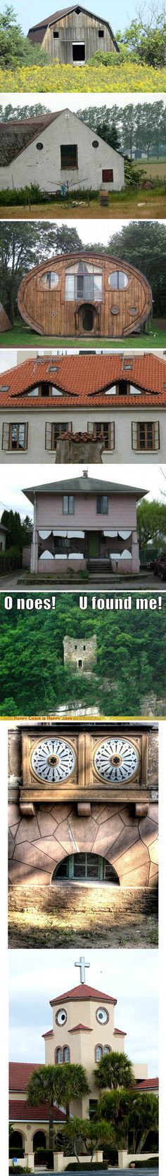 funny house faces