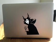Items similar to Maleficent Macbook Sticker on Etsy Macbook Stickers, Macbook Decal, Maleficent, Glowing Apple Logo, Macbook Air 15, Apple Mac Laptop, Apple Stickers, Transfer Paper, Laptop Skin