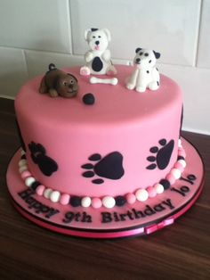 Puppy Dog Cake on Cake Central # Dogs cake Puppy Birthday Cakes, Puppy Birthday Parties, Themed Birthday Cakes, Birthday Cake Girls, Themed Cakes, Puppy Party, Cupcakes, Cupcake Cakes, Puppy Dog Cakes