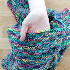 Simple Basketweave Baby Blanket - Free Knitting Pattern at Hands Occupied